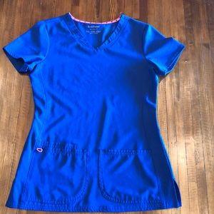 Heartsoul royal blue scrub top